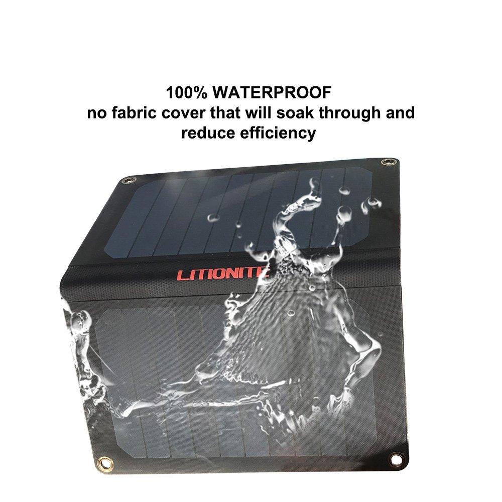 Litionite® Arun Mini 11W - 5V Panel Solar ETFE SUNPOWER portátil y Plegable con regulador de Voltaje + Salida USB, Cargador Universal y Compatible para ...
