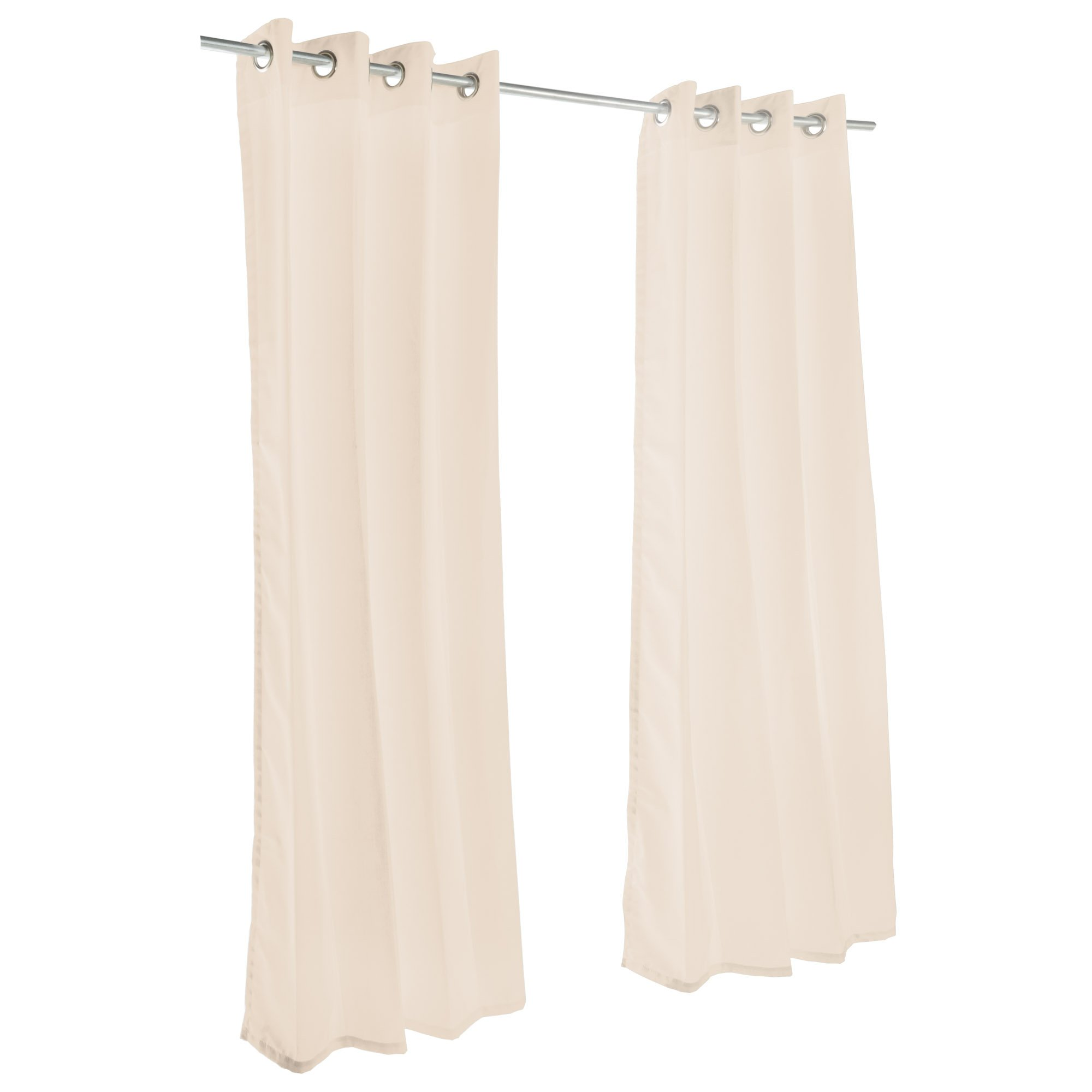 Sunbrella Outdoor Curtain With Grommets By Hatteras Outdoors - 52 1/2 X 84 Inch - Antique Beige by Hatteras Outdoors