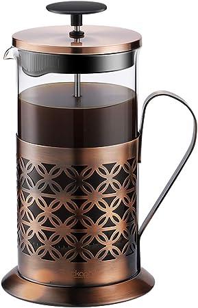 Kaffeebereiter Edelstahl French Press System Dauerfilter Edelstahl 1 Liter