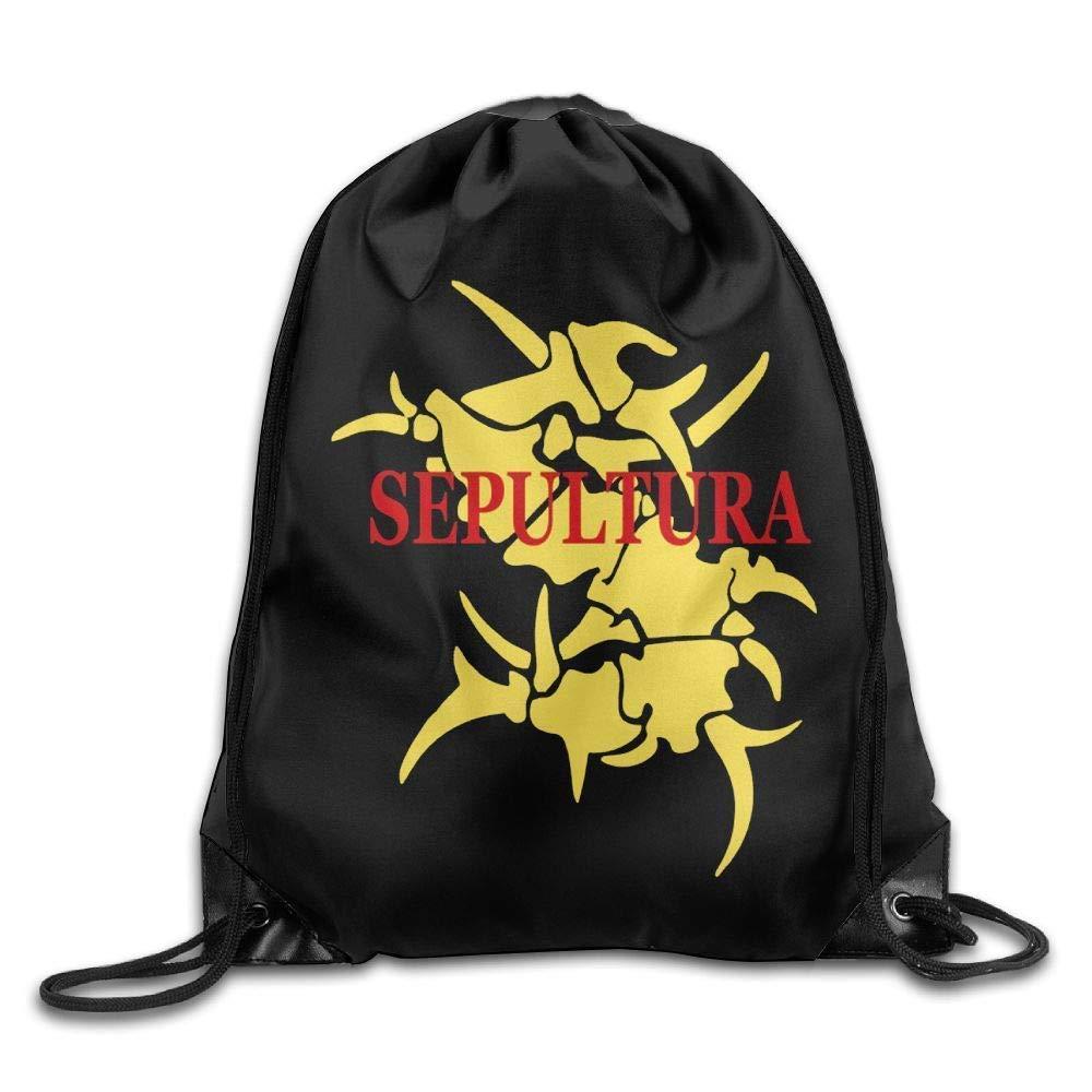 HLKPE Sepultura Logo Unisex Drawstring Gym Sack Sport Bag