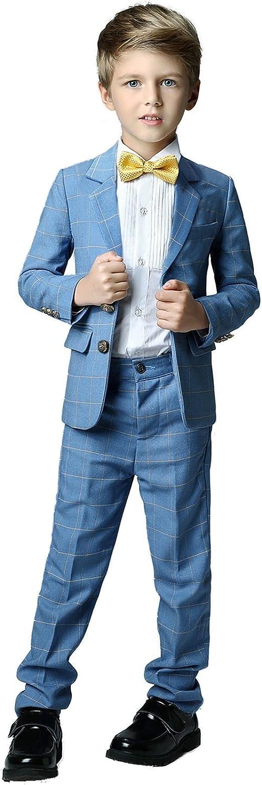 Amazon.com: Yanlu - Trajes formales para niño con blazer y ...
