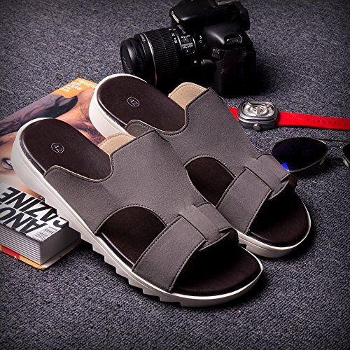 Xing Lin Sandalias De Hombre Tendencia De Verano Chanclas Sandalias Zapatillas Con Cordones Zapatillas Nuevas Zapatillas De Playa De Moda Zapatos Zapatos De Hombre Gris 42081