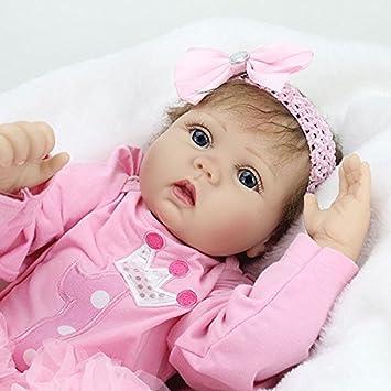 2116ac48df HOOMAI 22inch 55CM bebé Reborn muñeca realista niñas vinilo suave silicona  baby doll girls Handmade Niños pequeños Magnetismo Juguetes Contiene ropa:  ...