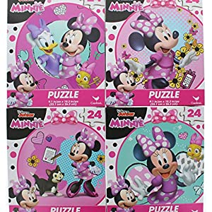 4 Pk. Disney Junior Minnie Jigsaw Puzzle 24 Pieces (96 Total Pieces)
