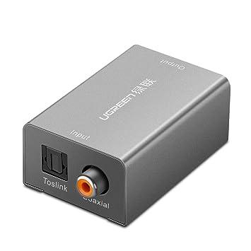 UGREEN Adaptador de Audio Digital Óptico/Coaxial a Audio Analógico de 3,5 mm