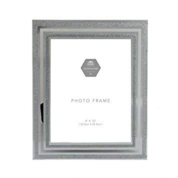 Amazon.com - Glitter and Mirror Photo Frame (8 x 10 inch) (Silver) -