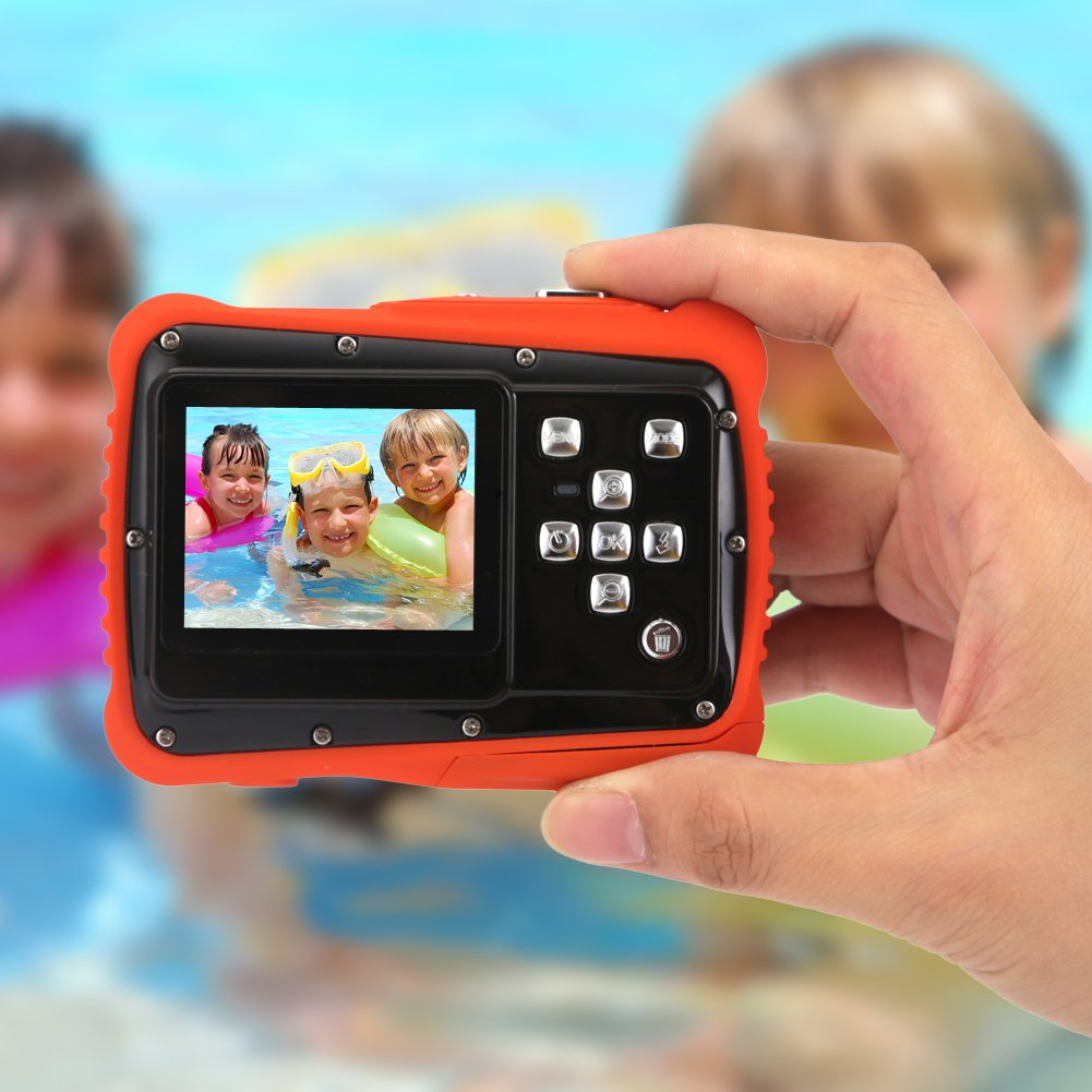Kids Digital Camera - Waterproof to 3 Meters - HD Video Recorder and 5 Mega Pixels - Shockproof Childrens Camera (Orange) by BAVISION (Image #5)