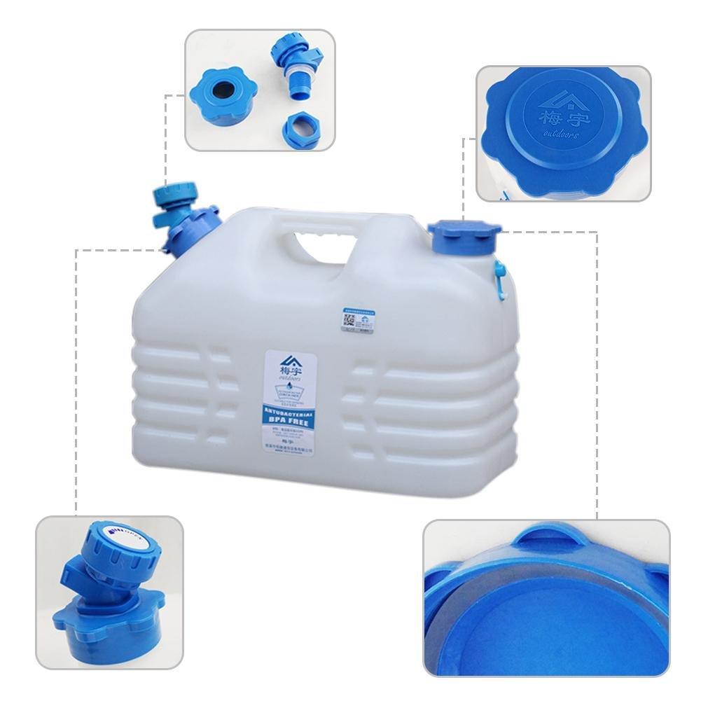 Bid/ón de agua con festmontiertem Purgador Boquilla de agua de PE para senderismo camping picnic Travel BBQ tama/ño 16L