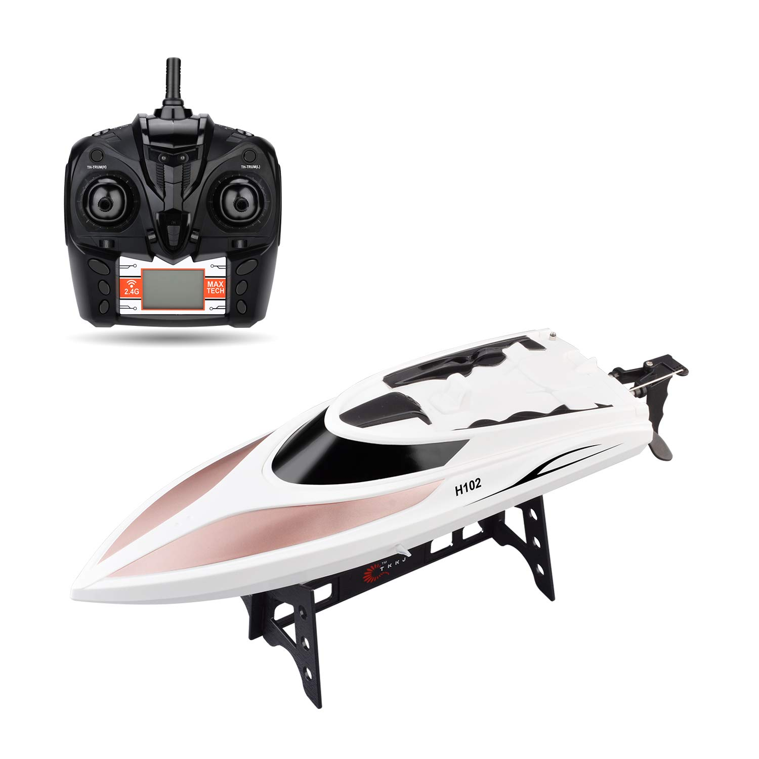 STOTOY TY62 RC Boat Remote Control Electric Racing Boat 2.4GHz 40KM/H High Speed Automatically 180 Degree Flipping Transmitter