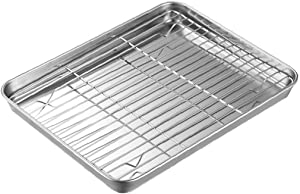 Roast Pan Non Stick Tray Roasting Tin Stainless Steel Cooker Grill Rack Universal Roaster Oven Baking Supplies