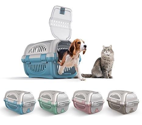 10569 Transportín de plástico modelo Rhino para perros y gatos de 51 cm - Amarillo