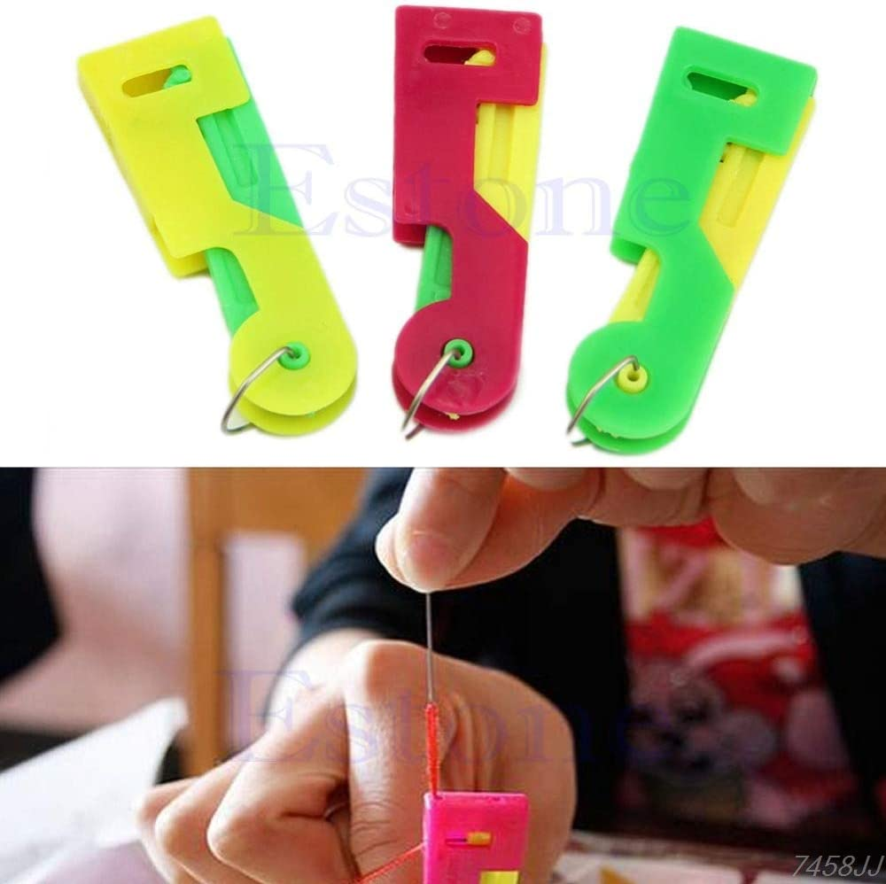 Easy Elderly Use Device Plastic Automatic Threader Needle Thread Guide Sewing
