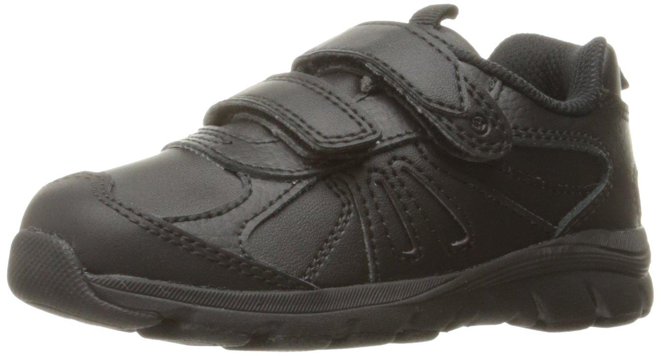 Stride Rite Boys' Cooper 2.0 H&L Sneaker, Black, 1 M US Little Kid
