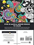 Creative Haven Magical Mehndi Designs Coloring Book: Striking Patterns on a Dramatic Black Background (Adult Coloring)