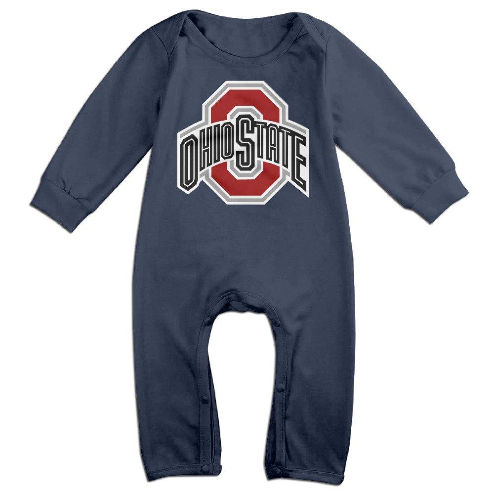 HOHOE NewBorn Ohio State University Logo Long Sleeve Bodysuit Outfits 18 M