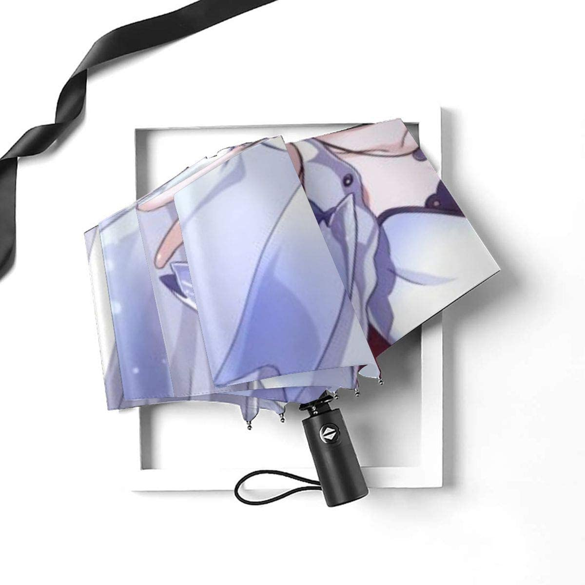 PatriciaHeredia RWBY Weiss Schnee Anime Automatic Tri-fold Umbrella