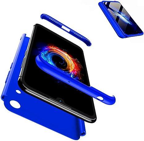 JJWYD Funda para Huawei Honor 8A + Gratis Cristal Templado, para Huawei Honor 8A Funda 3 in 1 Hard Caja Caso PC Protective Ultra Delgado Anti-rasguños Case Cover Caso: Amazon.es: Electrónica