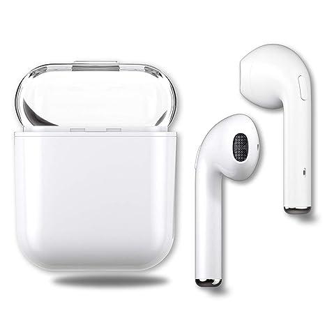 Auriculares Inalambricos Bluetooth,TWS Auricular inalámbrico Auricular con Estuche de Carga portátil y micrófono Incorporado