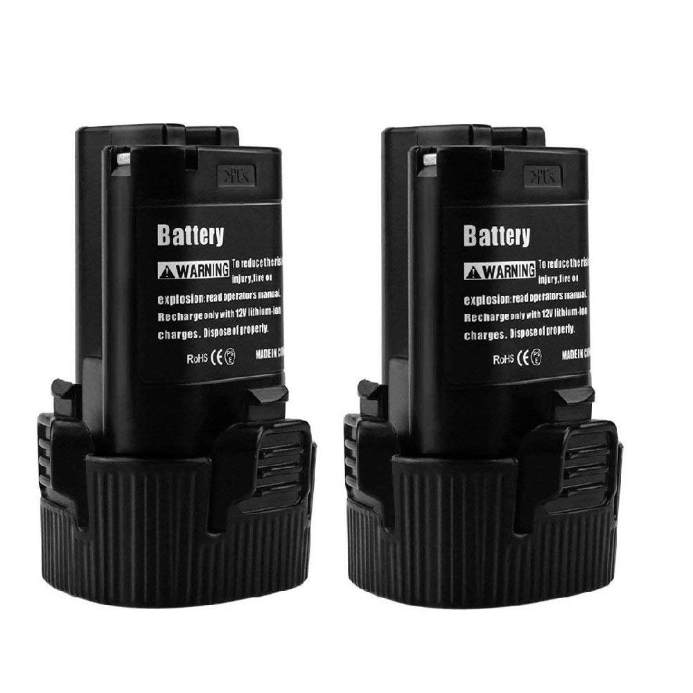 Fhybat 3500mAh BL1013 Battery for Makita 12v Replacement BL1014 194550-6 194551-4 195332-9 Li-ion Cordless Drill Power Tools (2-Pack)