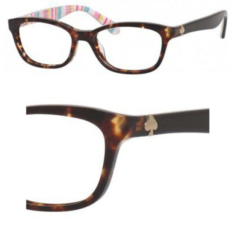 6c1d82e614 Amazon.com  Kate Spade Brylie 0RNL Havana Pt Multi Eyeglasses  Clothing