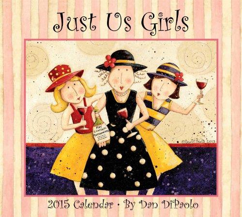 Just Us Girls 2015 Deluxe Wall - Art Wall 2015 Folk Calendars