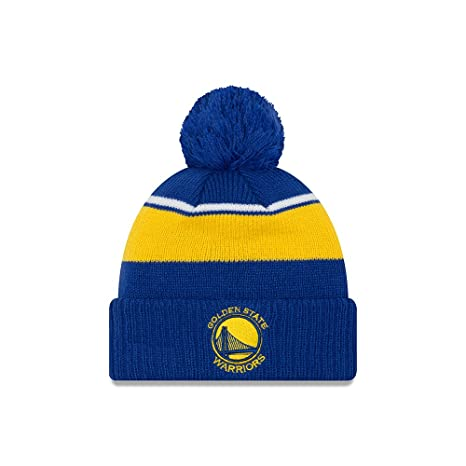 1e3b026bf67 Image Unavailable. Image not available for. Color  Golden State Warriors  New Era Call Out Cuff Pom Knit Beanie ...