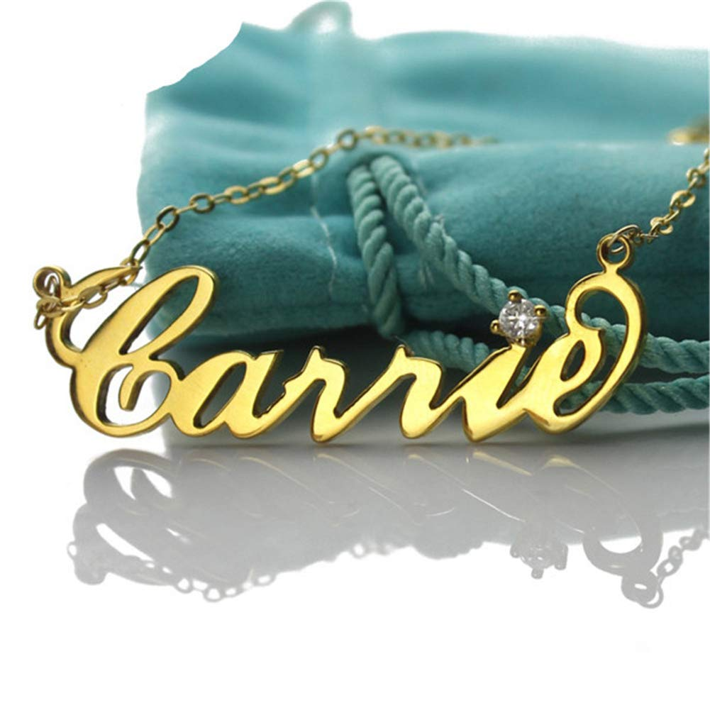 SADNESS N Name Necklace Personalized Name Necklace Cursive Font Made with Name Pendant