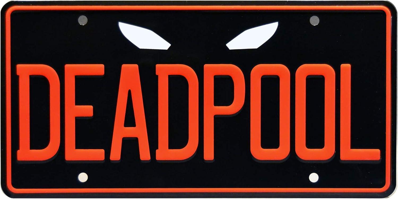 Wade Wilson Metal Stamped Vanity License Plate DEADPOOL