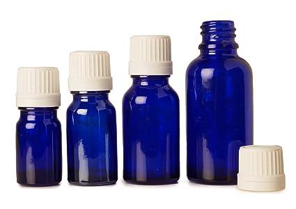6 Piezas De Cobalto Botellas Cuentagotas De Cristal Azul En Euros Al Por Mayor De Boston