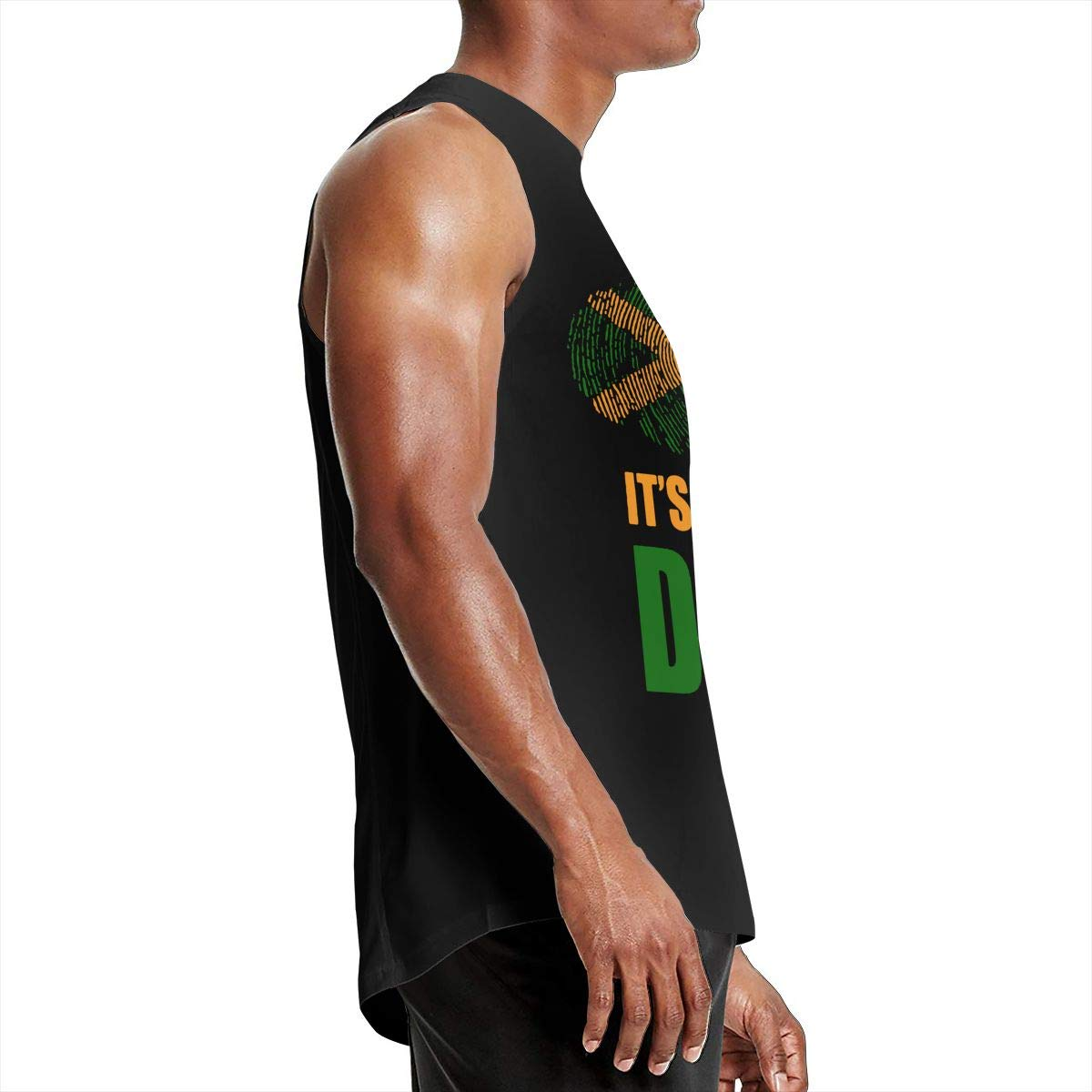 Mens Jamaican Its in My DNA Tank Top Loose Fit 100/% Cotton Blouse Top for Mens