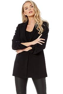 1611f2353 Roman Originals Women Casual Check Jacket - Ladies Turn Up Sleeve ...