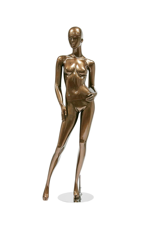 402 Trendy Female Mannequin Shiny Metallic Bronze Newtech Display MAF-S2-402//SMBR