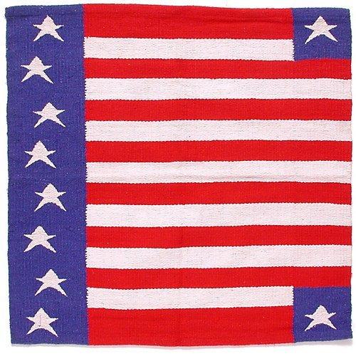 (Tough-1 Stars and Stripes Wool Saddle Blanket)