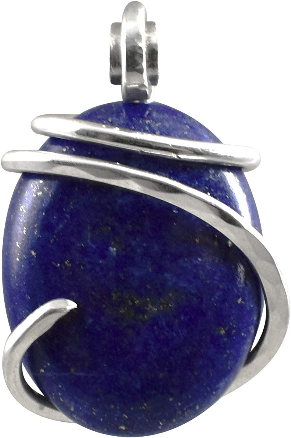 Lapis Lazuli//Pyrite Hand Wrapped Stone Pendant by Isabella Roth