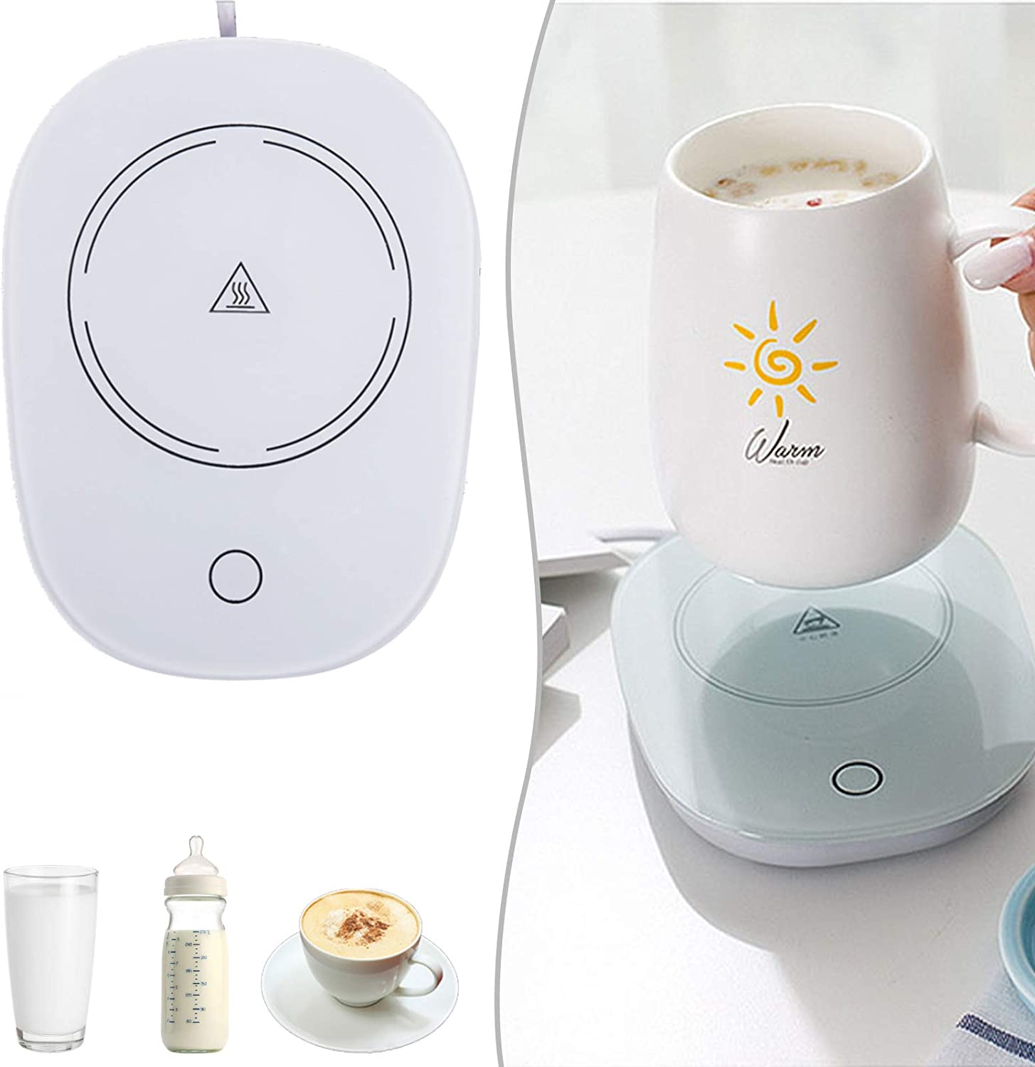 Coffee Mug Warmer for Desk,Coffee Warmer with Automatic Shut Off Cup Warmer with Gravity Induction Keep Temperature Up to 131℉/ 55℃,Coffee Beverage Warmer for Tea,Water,Soup,Milk