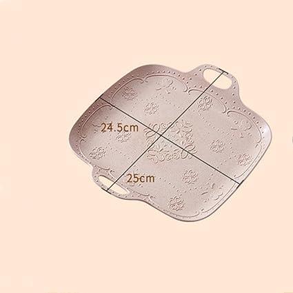 Kaxima Rectángulo Inicio Creativo Frutas Bandeja de Platos Refrescos Vajilla Bandeja de Pan Plástico Taza de