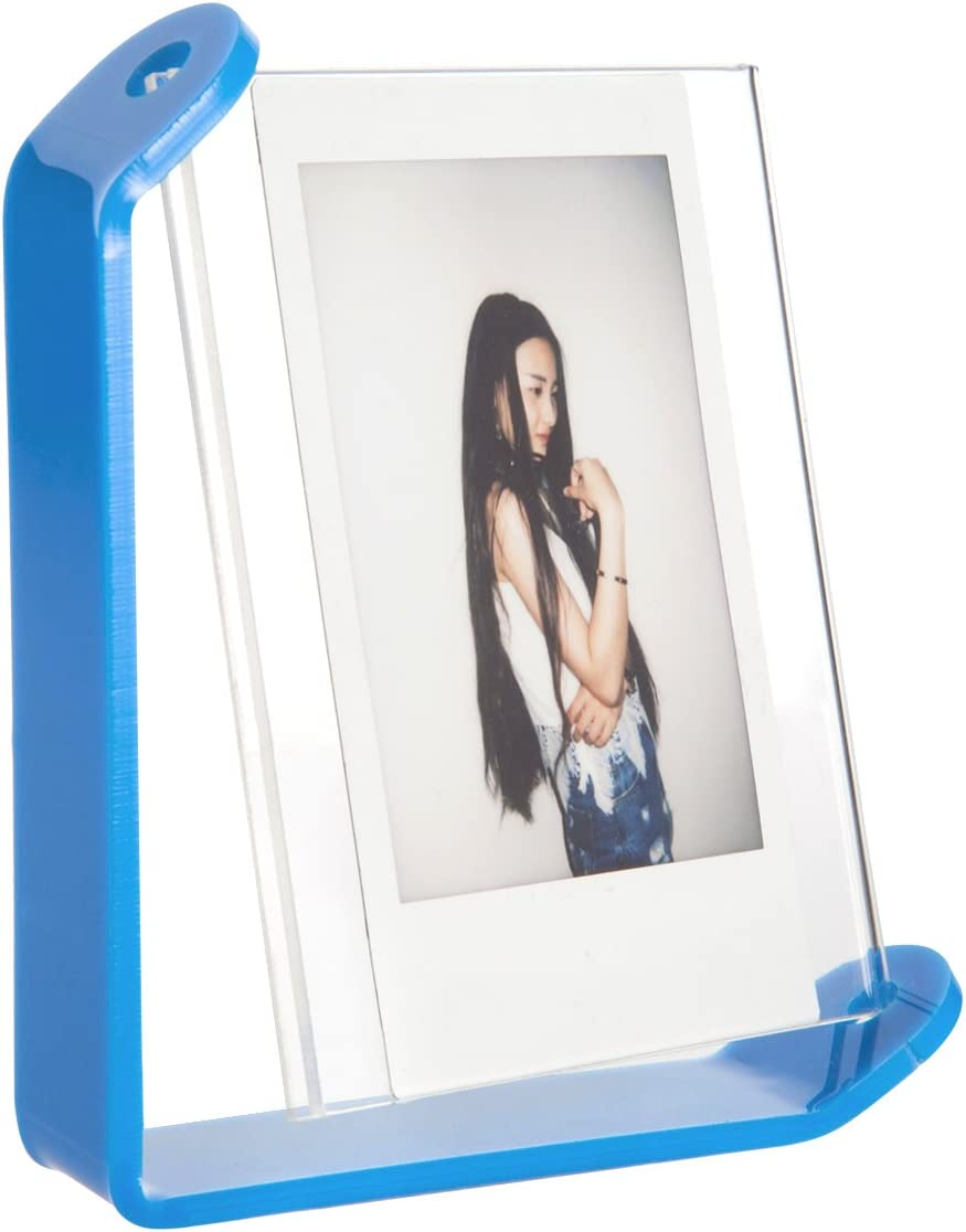 Blue Woodmin Tabletop Spinning Acrylic Photo Frame for Fujifilm Instax SQUARE SQ10 Films