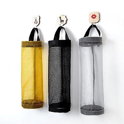 Bolso Para Bolsas De Plástico, 3 Piezas Bolso De Compras Para Supermercado De Poliéster Dispensador