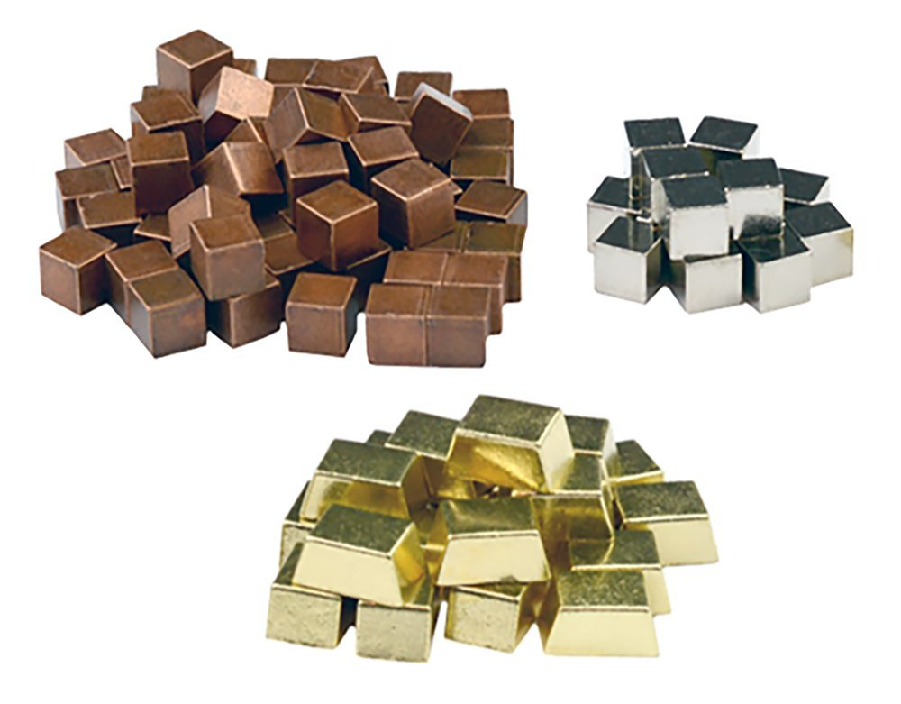 Top Shelf Gamer Real Metal Cubes compatible with the Terraforming Mars Board Game (set of 95)