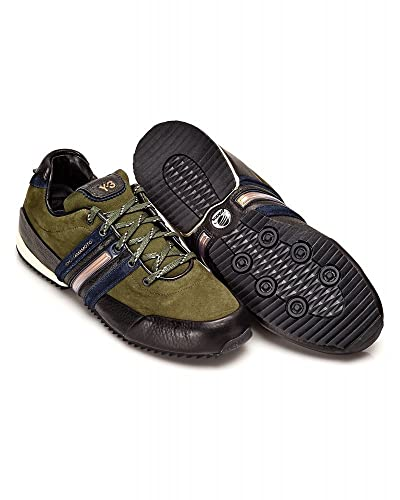 aa4558d3de598 adidas Y-3 Trainer Military Olive Green Sprint Leather Trainers   Amazon.co.uk  Shoes   Bags