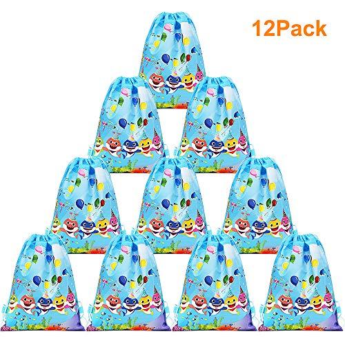 Sharks Gifts - Xplanet 12 Pack Shark Drawstring Party