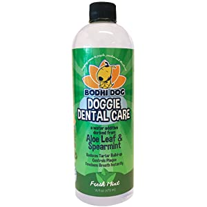 Natural Pet Dental Water Additive for Dogs Teeth, Breath, and Healthy Gums | Best for Tartar Cleaning, Plaque Remover & Fresh Drinking Oral Care Cleaner