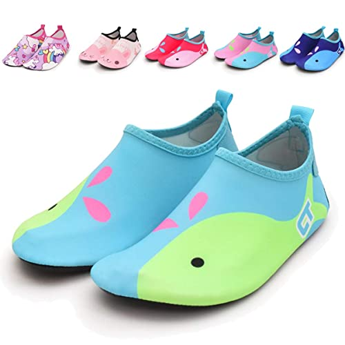 f23d851dbc85 ENERCAKE Toddler Kids Swim Water Shoes Barefoot Aqua Socks Shoes for Boys  Girls Quick Dry Non