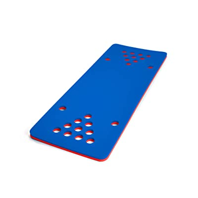 Floatation iQ HydraPong Pong Floating Swimming Pool Water Lake Party Game Foam Board Mat Pad, Red/Blue: Sports & Outdoors