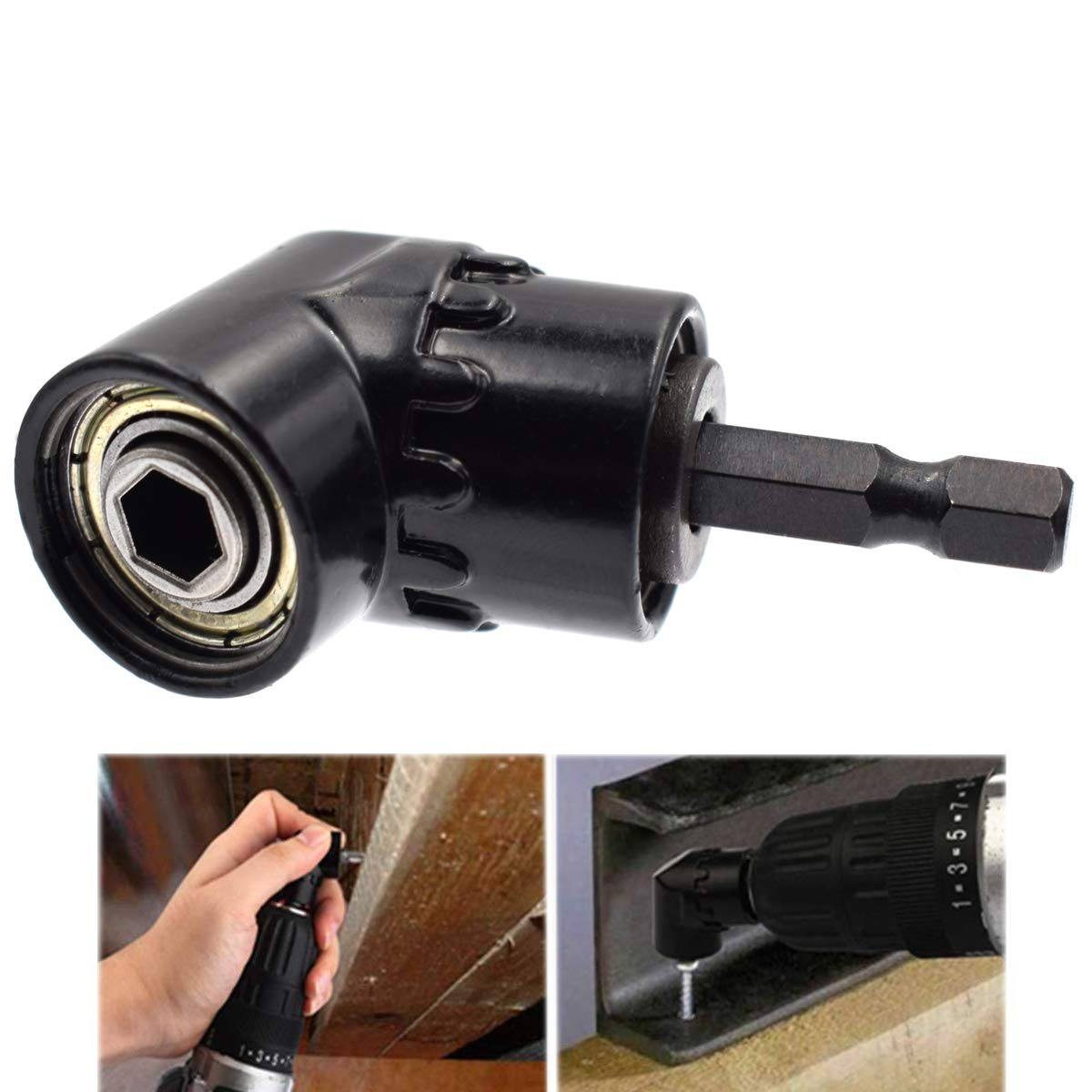 Riyiter Impact Grade Power Hand Tools Driver Sockets Adapter Extension Set 3Pcs 1//4 3//8 1//2 Inch Universal Socket Adapter Set,105 Degree Right Angle Driver Extension Screwdriver Drill Attachment