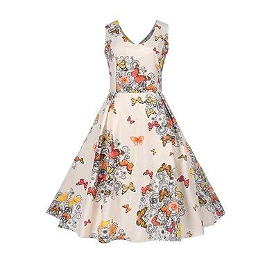 Amazon.com: Aurorax 【US 4-14】Women Dresses for Summer,1950s ...