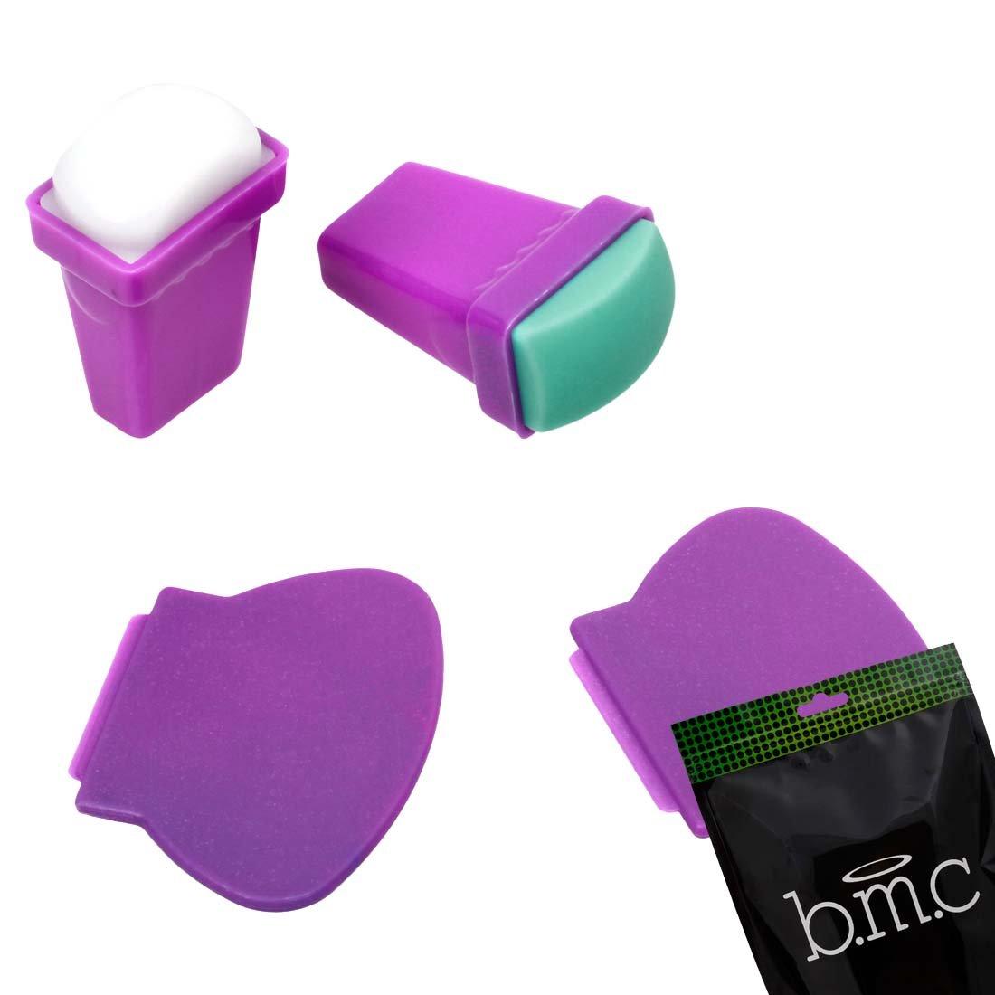 Amazon.com : BMC 4pc Silicone and Rubber Stamper Plastic Scraper ...