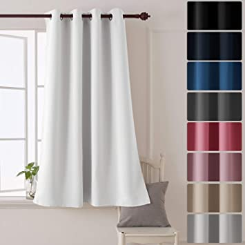 Deconovo Rideau Chambre Decorative Super Soft Oeillets Rideau ...