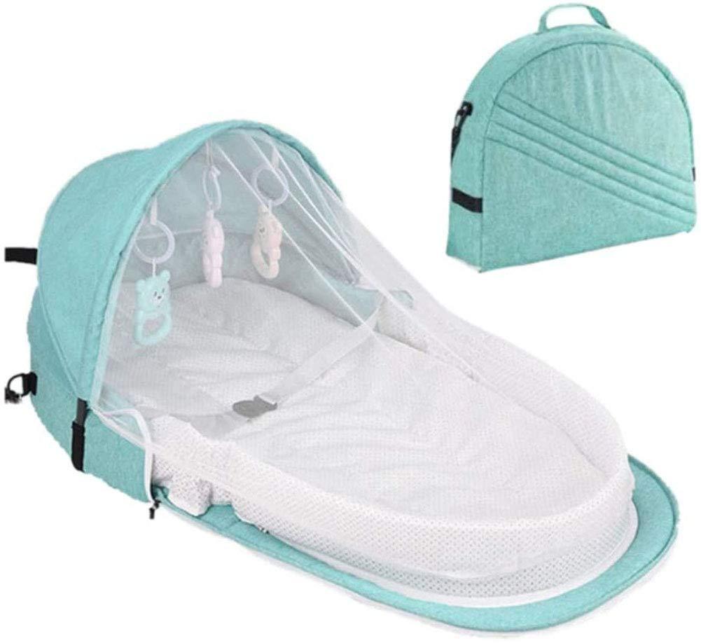 Tragbare Faltbare Babybett F/ür Reisen Sonnenschutz Moskitonetz Atmungsaktiv S/äugling Schlafkorb mit Spielzeug(Schicken Sie Spielzeuggeschenke) 0-1 Jahre