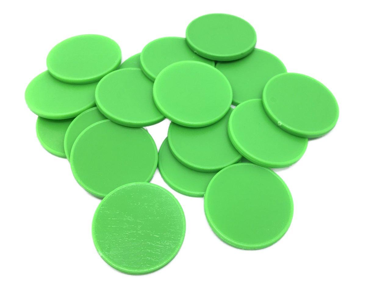 Einkaufswagenchips 1 Euro und Einkaufschip, viele Farben, einsetzbar als Spielgeld oder Spielmünzen, Farbe:brillantrot, Größe:10 Stück Otwis Plastik